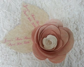 10 LARGE PAPER FLOWERS