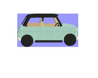 SALE PRICE. Mini Cooper embroidery design