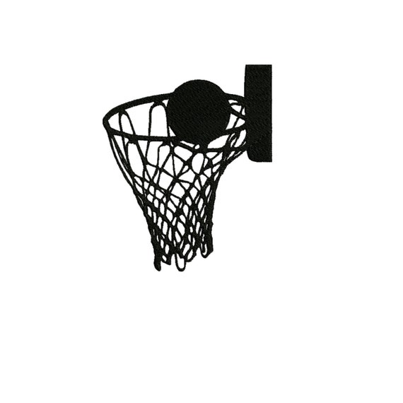 Items similar to embroidery design basketball hoop