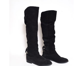 Vintage Tall Suede Leather Boots