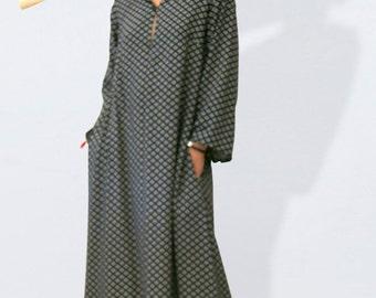 Kaftan dress, oversized ethnic dress, kaftan, boho dress, maxi tunic,gypsy dress, hippie dress,festival dress, black dress, ethno dress,