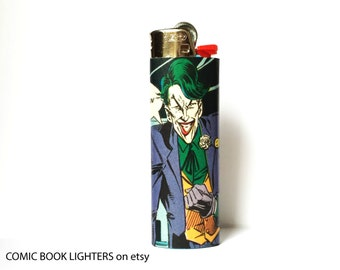 The Joker Comic Book Custom Bic Lighter