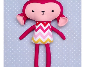 Little Pink Monkey Soft Toy