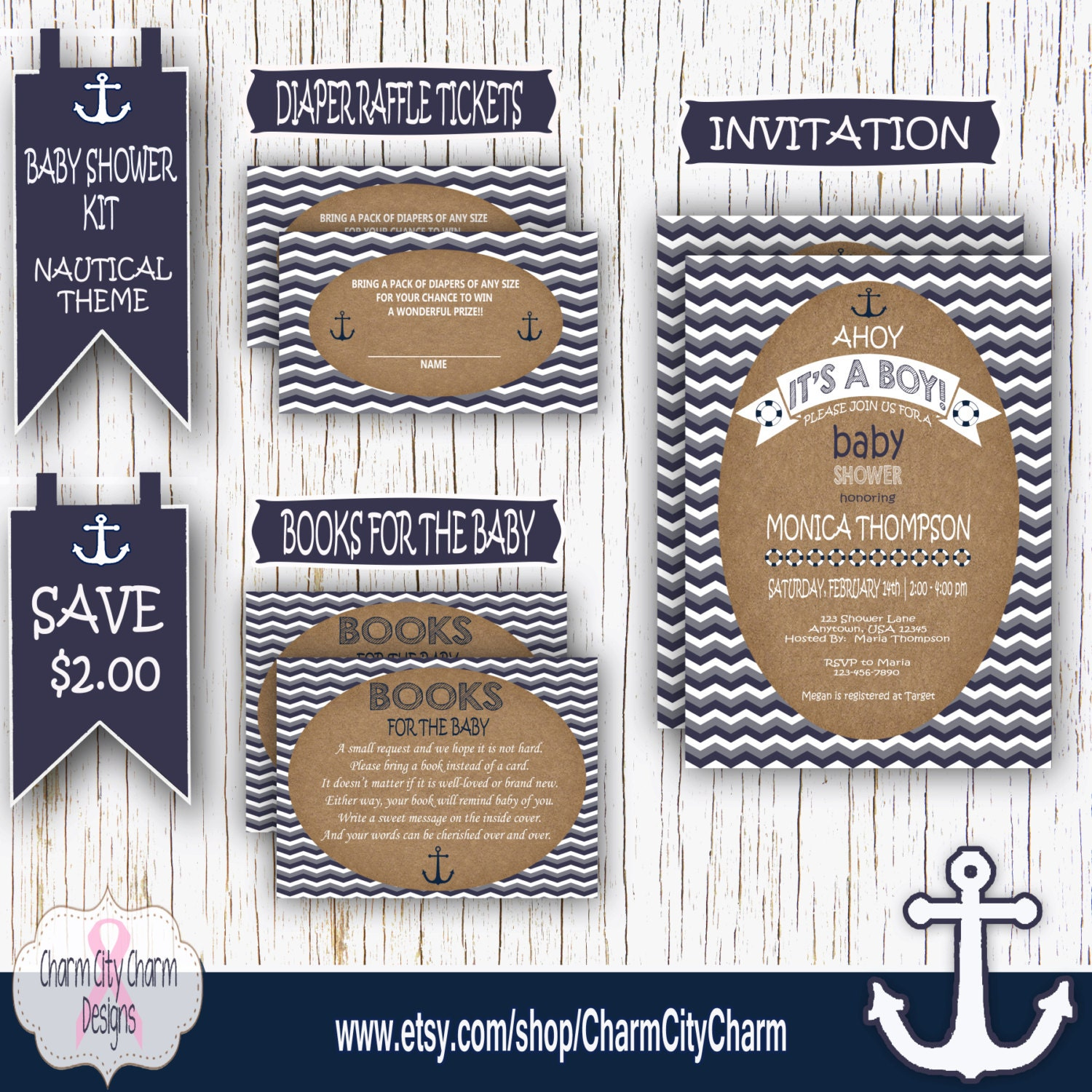 book raffle ticket baby shower invitation kit nautical baby shower invitation ahoy it s a boy bring a book insert cards diaper raffle tickets printables