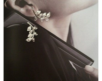 Leaf earrings -twig earrings - natural jewelry