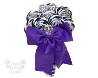 Customizable Purple Lollipop Bridal Bouquet, Purple Wedding Bouquet, Purple Wedding, Purple Bridal Bouquet, Wedding Bouquet, Candy Bouquet