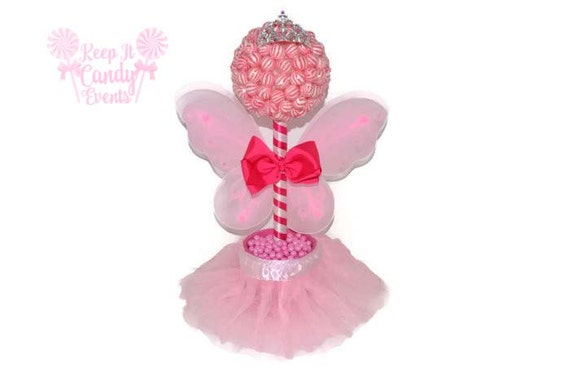 Pink lollipop fairy princess topiary by keepitcandy