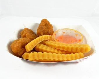 Chicken Nugget and Fries Shaped Soap