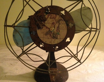 Vintage Eskimo Fan Converted  into a Clock