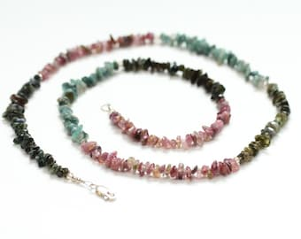 healing jewelry / tourmaline necklace / tourmaline jewelry / april birthday / colorful spring necklace / multicolor gemstone necklace #1521