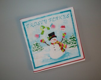 Snowman cloth book - baby soft book - how to build storybook - winter fun - Frosty Flakes - creative play - toddler gift
