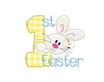 Baby's First Easter Applique - 4 sizes - Instant EMAIL With Download - for Embroidery Machines