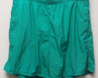 "90's Vintage ""SADDLEBRED"" Teal Green Swim Shorts/Trunks Sz: XXL (Men's Exclusive)"