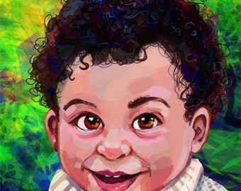 Custom Child Digital Painting Portrait