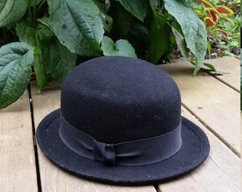 Vintage Bowler Hat Black
