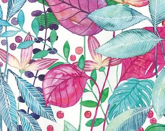 Postcard Hawaii, Illustrated Postcard, Aquarel and Marker