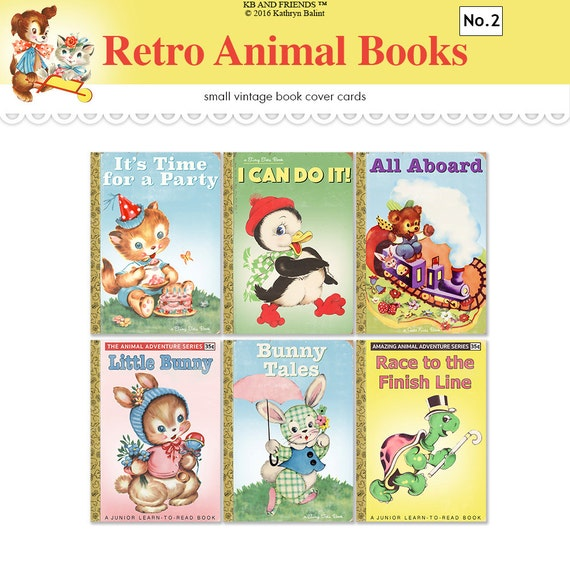 Children 39 s book covers printable vintage atc aceo tags for Classic jungle house for small animals