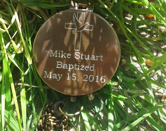 Baptism Day Gift, Baptism Gift, Baptized, Confirmed, Compass, Personalized Working Compass, Baptism, Confirmation Gift, Christening