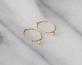 Star Hoop Earrings - MAIVE by Seoul Little - M3501