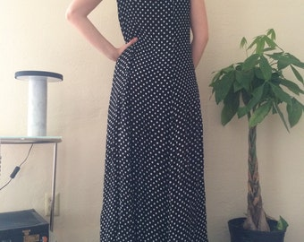 Polka Dot Cut out Back Maxi Dress