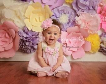 Baby Headband, Headband, Pink Headband,headbands,Newborn Headband,Lace headband,Preemie,Infant,Toddler,Child,Wedding, Baptism,Hair Bows,Baby