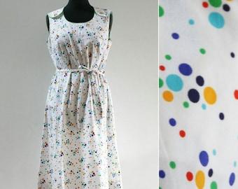 Vintage Spotty A-Line Pinafore Dress