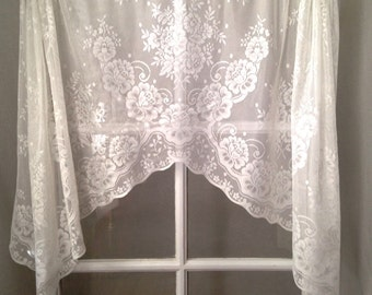 popular items for lace curtain valance on etsy