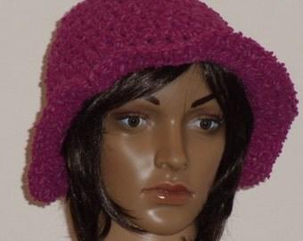 Crochet hat in pink