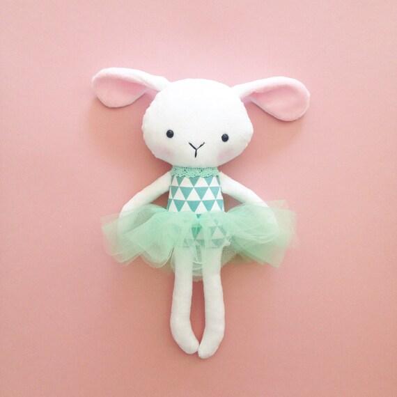 bunny toy - Bunny rag doll - Handmade rabbit doll - Stuffed toy ...