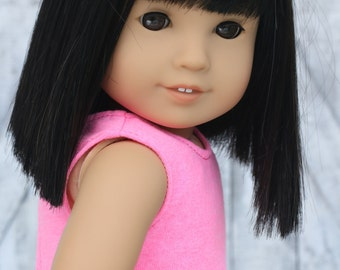 Doll Clothes | Bright Pink CROP TANK TOP for 18 Inch Doll such as American Girl Doll