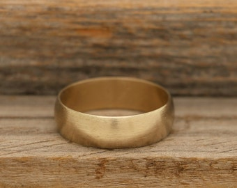 14k Gold Plated Brushed Band
