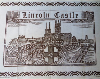 Lincoln Castle Tea towel - FREE POSTAGE