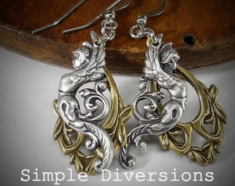 Guardians Earrings from the Guardians Collection Winged Warrior Goddess Victorian Faerie Wings Guardian Angels Gothic Simple Diversions