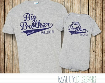 Big Brother Little Brother Outfits, Baseball Brother Shirts, Matching Brother Outfits, Coordinating Sibing Shirts,