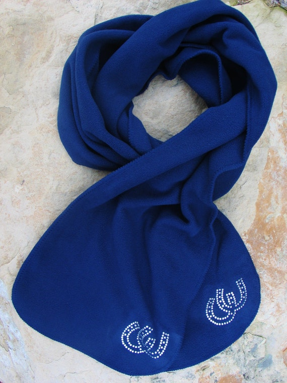 Soft Fleece Horseshoe Scarf, Horseshoe, Fleece Scarf, Winter Scarf, Scarf, Womens Accessories
