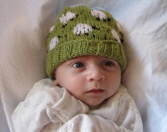 Baby Sheep Hat, beanie newborn, knitted baby hat, woolly Sheep hat