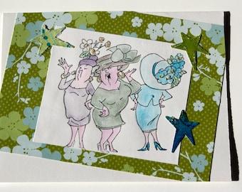 handmade humorous girlfriends greeting card