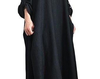 Soft Hemp Loose Long Dress No5 (DNN-086-01)