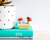 Ceramic toadstools, Ceramic mushroom, Fairy garden accessories, Ceramics & pottery, Ceramic mushroom decor, Ceramic miniatures, Miniature
