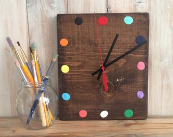 Craft Room Wall Clock - Paint Clock - Painter's Decor - Art Studio Decor - Art Studio Clock - Gift for Artists - Craft Room Decor