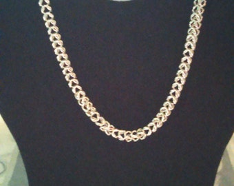 Silver Chainmaille Necklace