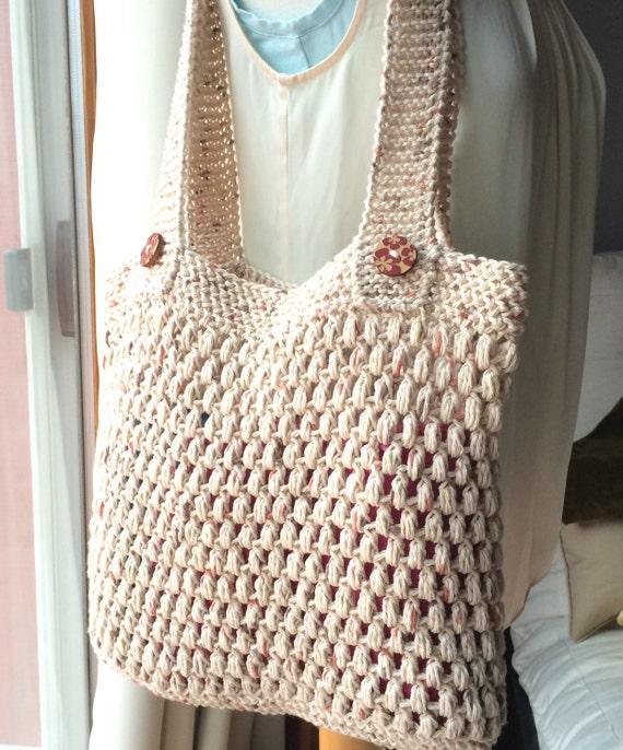 Crochet Grocery Bags : Crochet Market Bag Shopping Tote Crochet Beach Bag Reusable Crochet ...