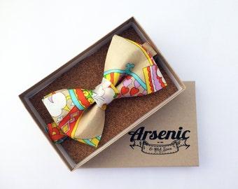 Floral bow tie | mens bow tie | boys bow tie | toddler bow tie | vintage bow tie | womens bow tie | gifts for men | art deco bow tie