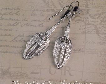 SALE- Kate Middleton - Inspired Art Deco Earrings