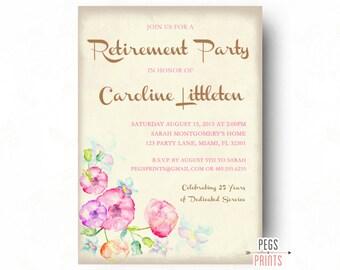 floral ruhestand | etsy, Einladung