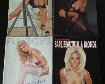 Vintage Set of Four Playboy Magazine Supplements 1992,1993, 1994, & 1996