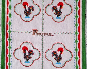 Barcelos Rooster Portugal Kitchen Tea Towel - 100% Cotton