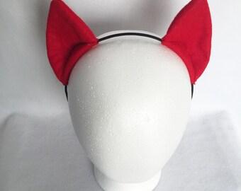 Red Pony Costume Ears, Cosplay Ears Headband, Red my little pony ears big mac ears, big macintosh ears