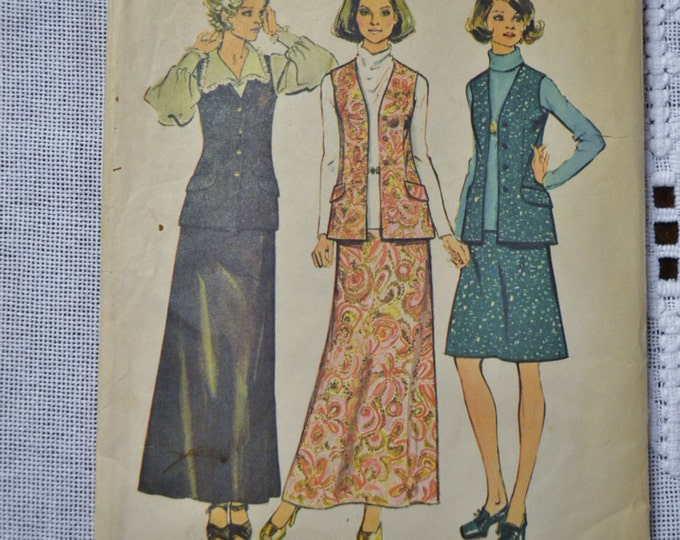 Simplicity Sewing Pattern 6040 Half Size Womens Skirt in Two Lengths Vest Size 20 Fashion Clothing DIY  PanchosPorch