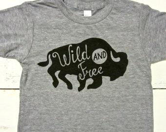 Wild and free baby & toddler t-shirt. Free spirit Toddler T. American Apparel. Wild and free shirt.
